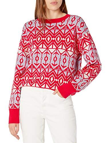 The Drop Ingrid Jersey Jacquard con Cuello Redondo Sweaters Mujer