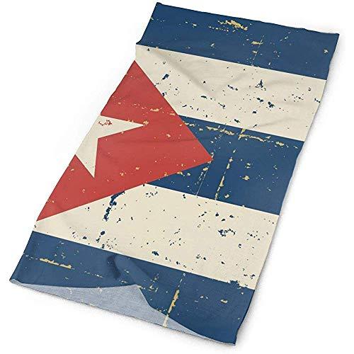 Quintion Robeson Sombreros para el Deporte al Aire Libre: máscara de Pesca, Polaina para el Cuello, Diadema, pañuelo, pasamontañas, pañuelo de Bandera Cubana Retro