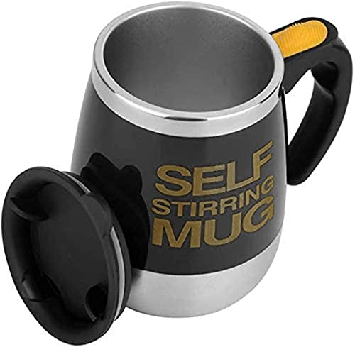 2021 Konigswerk Self Stirring Coffee Mug Cup outlet sale - Funny Electric Stainless Steel outlet sale Automatic Self Mixing & Spinning Home Office Travel Mixer Cup (Black) outlet online sale