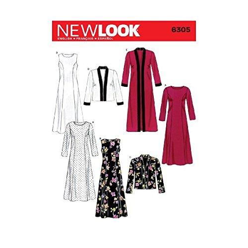 New Look Gr. 40-52 6305 Schnittmuster, Damenkleider