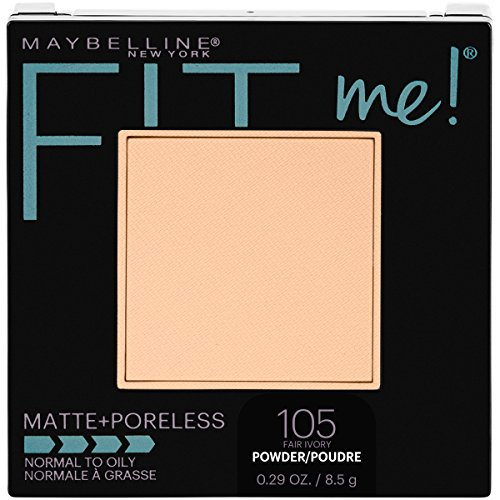 Maybelline New York Fit Me Matte + Poreless Pressed Face Powder Makeup, Fair Ivory, 0.29 Ounce, Pack of 1