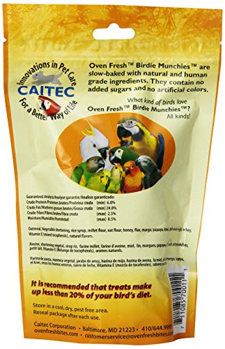 Oven Fresh Bites Birdie Munchies Pet Treat, Tropical Fruit, 4-Ounce