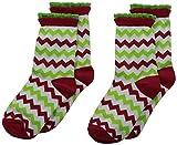 Jefferies Socks Weihnachtssocken für Mädchen, 2 Paar - Rot - Small