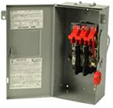 Eaton DH362FRK 3 Wire 3 Pole Fusible K Series Heavy-Duty Safety Switch 600 Volt AC 60 Amp NEMA 3R