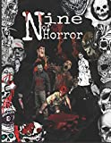 nine of horror: Coloring Book For Adults Relaxation Color Freak of Horror Coloring Books for Adults with Nightmare Halloween Terrifying Monsters A Serial Killers from Classic Horror Movies