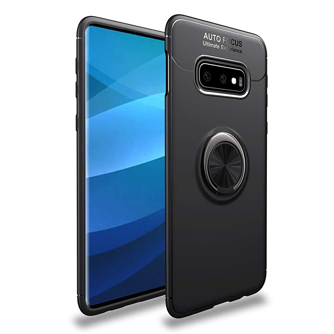 Avalri Samsung Galaxy S10e Case, Shock-Absorption Anti-Scratch Thin Soft 360 Degree Rotating Ring Kickstand Cover with Support Magnetic Car Mount Function for Samsung Galaxy S10e (Black)