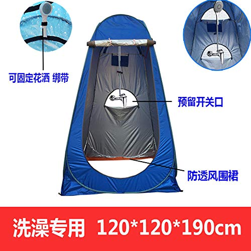Pop Up Toilet Tent ,Automatic pop-up tent Outdoor bathing tent Household bath tent thickening and warmth Changing room cover Portable mobile toilet Beach changing sunscreen tent-1.2m3 window for bat