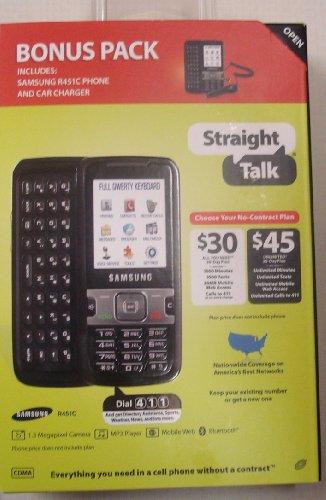 Straight Talk Samsung 451c Slide Phone