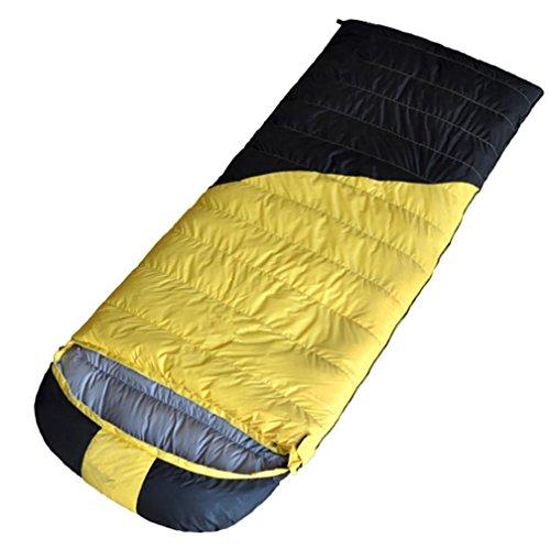 Enveloppe Duvet de canard blanc Sac de couchage Imperméable Garde au chaud Alpinisme Camping Activité 600g-2500g , yellow , 1800g