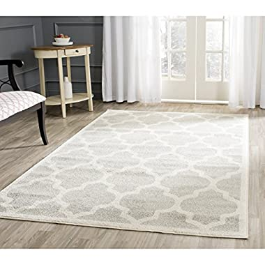 Safavieh Amherst Collection AMT420B Light Grey and Beige Indoor/Outdoor Area Rug (5' x 8')