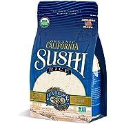 Lundberg Family Farms - Organic California Sushi Rice, Japanese Style Short Grain Rice, Perfectly Sticky, Pantry Staple, Non-GMO, Gluten-Free, USDA Certified Organic, Vegan, Kosher (32 oz)