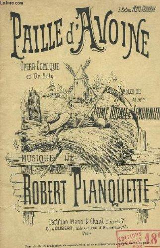 PAILLE D'AVOINE - PIANO ET CHANT.