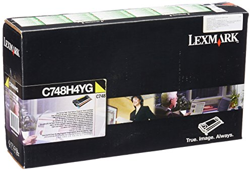 Lexmark High Yield Yellow Return Program Toner Cartridge for US Government, 10000 Yield (C748H4YG)