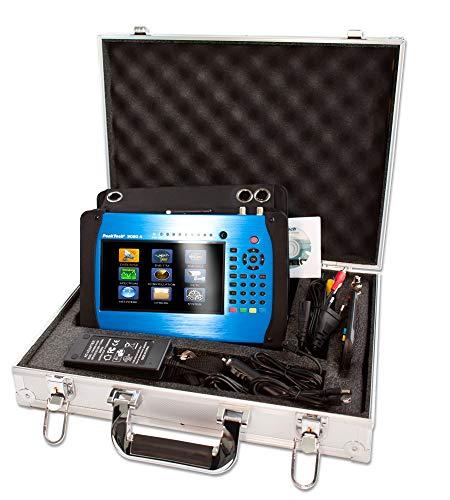 PeakTech P 9020 A meetapparaat C/C2, T/T2, DVB-S/S2 met 18 cm kleur-TFT-display, H.265 codec, Live-TV-afbeelding, hoekberekening, test-report, HDMI, ontvanger, Spectrum, WiFi, LAN en USB