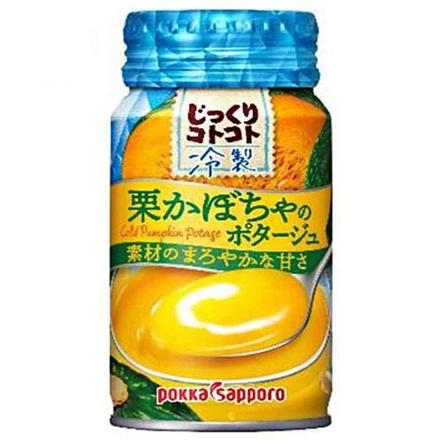 ポッカサッポロ じっくりコトコト 冷製栗かぼちゃのポタージュ 170gリシール缶×30本入×(2ケース)