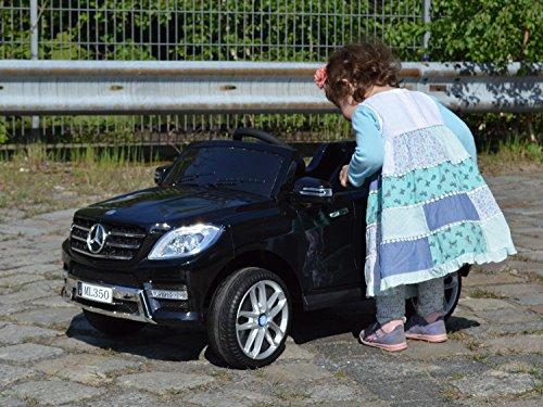 RC Auto kaufen Kinderauto Bild 4: Mercedes Benz ML 350 Kinder Elektro Auto - Original Lizenz Daimler - Vollausstattung - LED Beleuchtung - Vollgummi - USB - Bluetooth - Kinderauto*