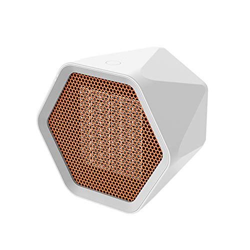 KAISUN Portátil Calefactor Eléctrico, Mini Calentador De Ventilador, Ventilador Calefactor Eléctrico PTC Cerámica,Aire Frio Y Caliente para Hogar Oficina (Blanco,600W)