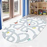 LIVEBOX Road Traffic Kids Play Mat, 4' x 6' Playroom Area Rug Soft Flannel Children Carpet Great for Educational & Fun with Cars and Toys Throw Rug for Living Room Bedroom Nursery Best Shower Gift
