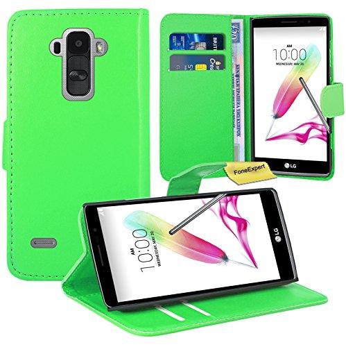 FoneExpert® LG G4 Stylus Handy Tasche, Wallet Hülle Flip Cover Hüllen Etui Ledertasche Lederhülle Premium Schutzhülle für LG G4 Stylus