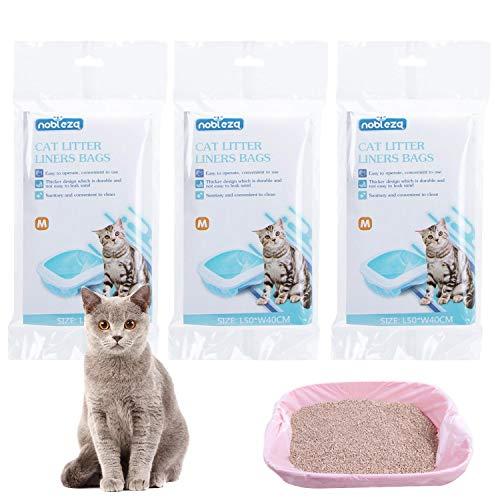 Nobleza 36 Bolsas sanitarias, Que se Pueden Colocar en la Caja de Arena para Gatos para un fácil reemplazo de la Arena para Gatos M 50 * 40CM
