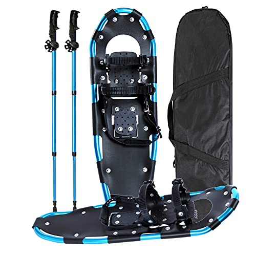 Snowshoes Light Weight Snow Shoes for Men and Women Boys Girls, Lightweight Aluminum Alloy Snow Shoes, Size 21 inches