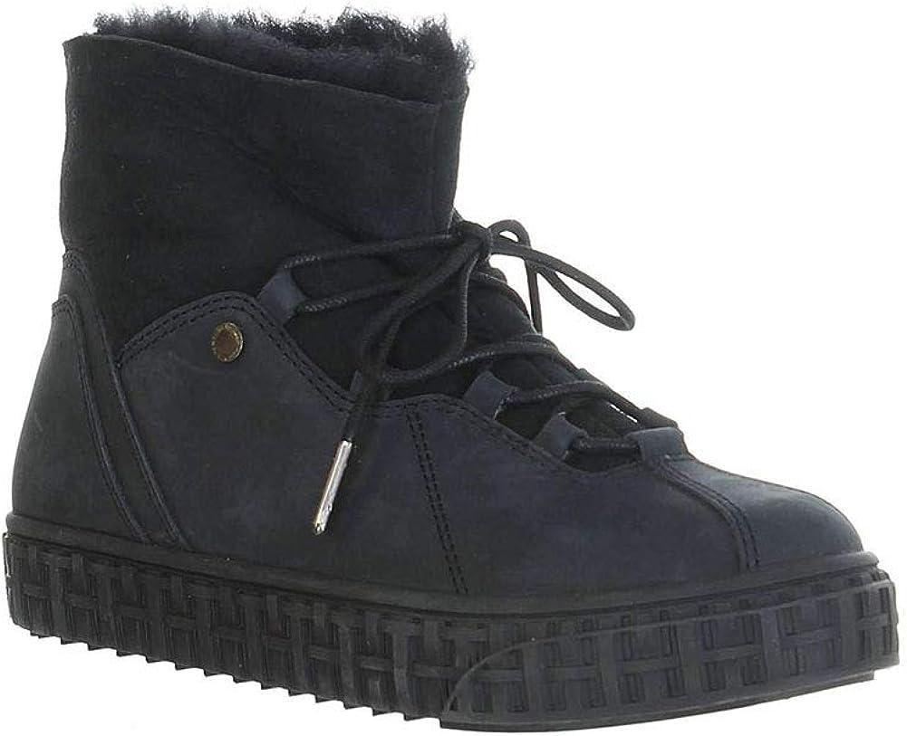 PAJAR Women's Liberty Waterproof Nubuk Ankle Boots, Black, 5