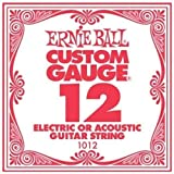 6 Pack Ernie Ball Custom Gauge 12's Guitar Single Strings Electric/Acoustic