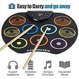 Portable Roll Up Electronic Drum Kit Faltbare Musikalische Unterhaltung Übungsinstrument