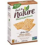 Back to Nature Gluten Free Crackers, Non-GMO Multi-Seed Rice Thins, 4 Ounce