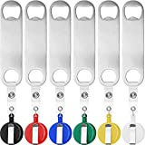 12 Pieces Retractable Stainless Steel Flat Beer Bottle Opener with Belt Clip for Bartenders, Waiter Home Kitchen Bartenders Waiter Kitchen Bar Restaurant