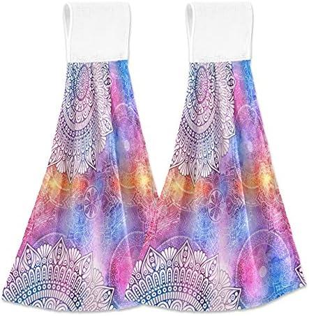 Bargain sale Rainbow Lowest price challenge Mandala Hanging Kitchen Towels Circle Towe Hand Colorful