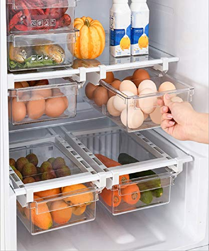 NaturPur Kühlschrank Organizer Ordnungssystem zur Aufbewahrung Küche - Aufbewahrungsbox transparent Lebensmittel frischhalte Kunststoff Kitchen Gadgets, The Container Store, Fridge Regal, Box (1)