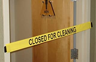 Closed for Cleaning Sign - Nylon Banner with Magnetic Ends