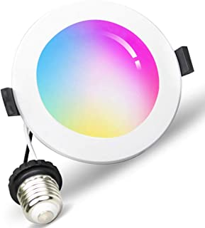 Smart WiFi LED Recessed Drywall Downlight 6 inch, 15W Ceiling Down Lighting Voice Control via Alexa Google Assistant Siri, RGBCW Multicolor Color Changing Light Bulb 2700K - 6500K No Hub