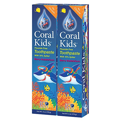 Coral White, Coral Kids Natural Toothpaste Fluoride Free and...