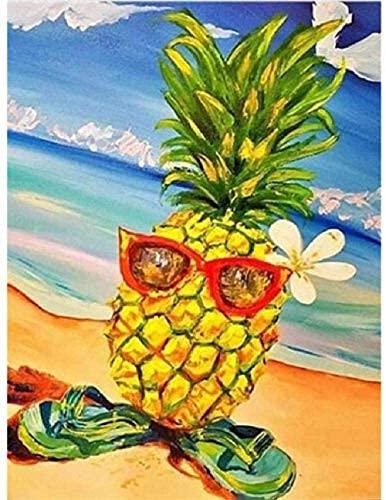 Volwassen Kinderspel voor tieners 3000 Stuk Puzzel Ananas Spel op het Strand Past perfect, Educatief Intellectueel Familie 122x81cm