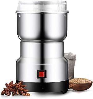 Kaffekvarn, elektrisk kaffebönakvarn med rostfritt stålblad, kryddkvarn med en knapptryckning för kaffebönor, nötter och s...
