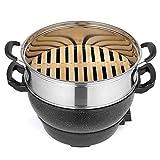 Nourriture cuit-vapeur électrique, Steamers alimentaires 2 Niveau électrique avec maintien au chaud, des ménages multi-fonction épais antiadhésifs électrique à vapeur avec cinq Température réglable zy