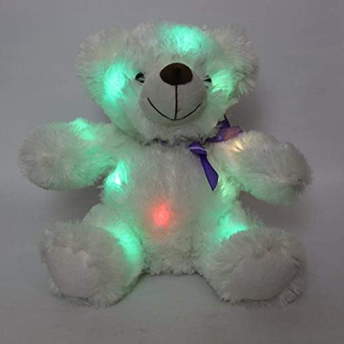 SUPER SOFT GLOW TEDDY COLOUR CHANGING LIGHT UP LED NIGHT LAMP TOY CUDDLY PLUSH