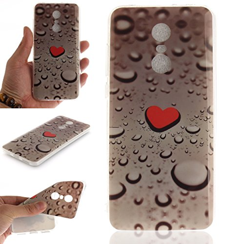 Funda Xiaomi Redmi 5 Plus Moda Relieve Pintura TPU Flexible Silicona Suave Funda Carcasa Caso Cover Caja Suave Gel Shock Absorción Anti Rasguños Anti Choque Bumper Protectora Funda