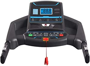 Marshal Fitness Home Use Hi Performance Treadmill With Air Cushion Shock Absorption System-MFJ-2030-4-45CM Black