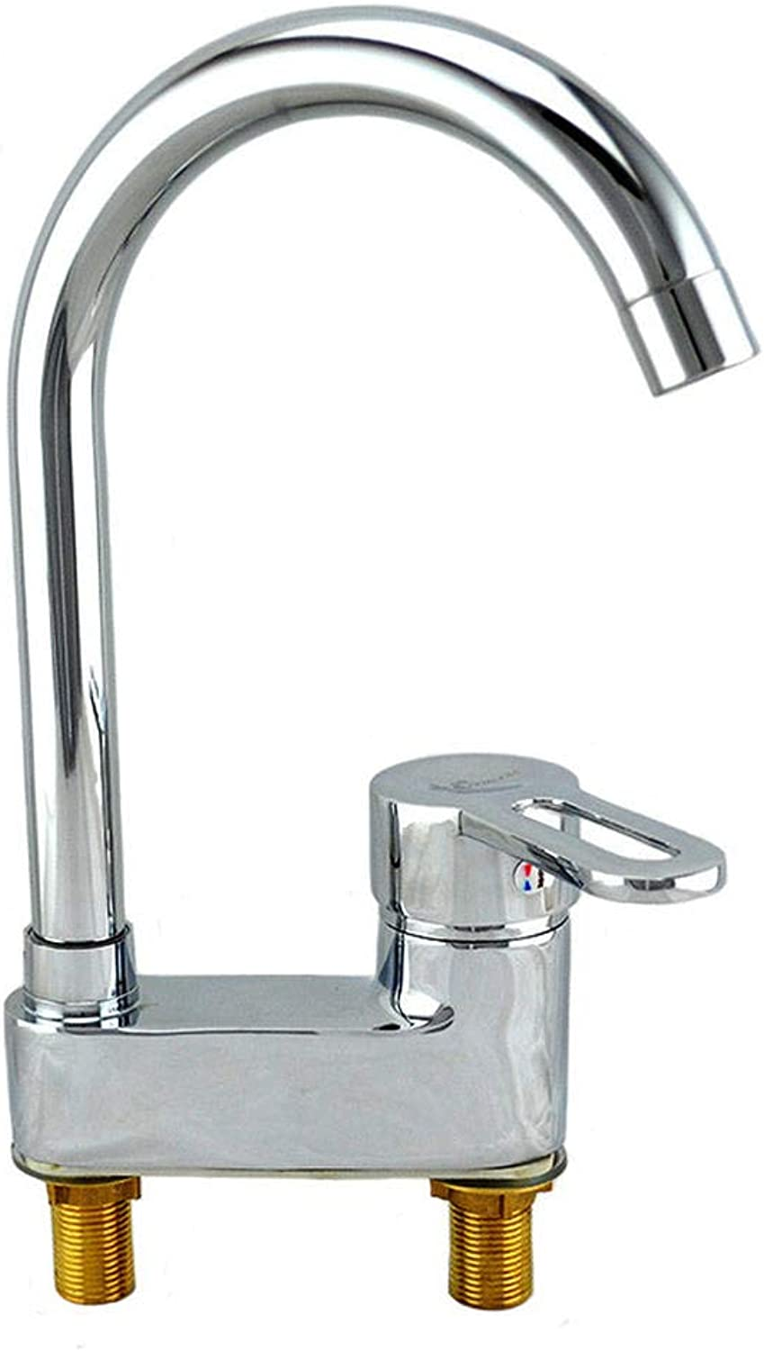 Copper Single Double-Headed Copper Double-Headed Copper Bench, Basin, Cold and hot Water Mixing Faucet