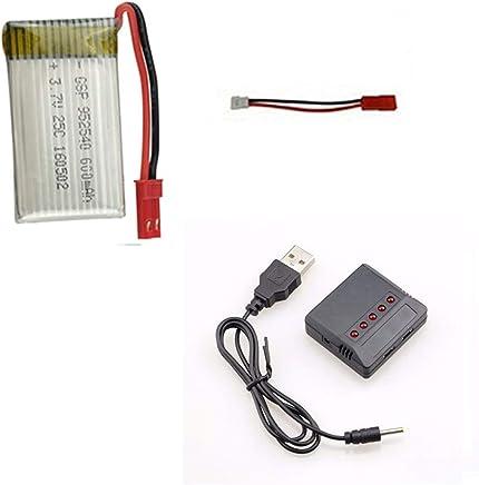 kit 1 Bateria 600mah E Carregador 5x1 para Drone Inspire Fq777 Ml2123 e similares