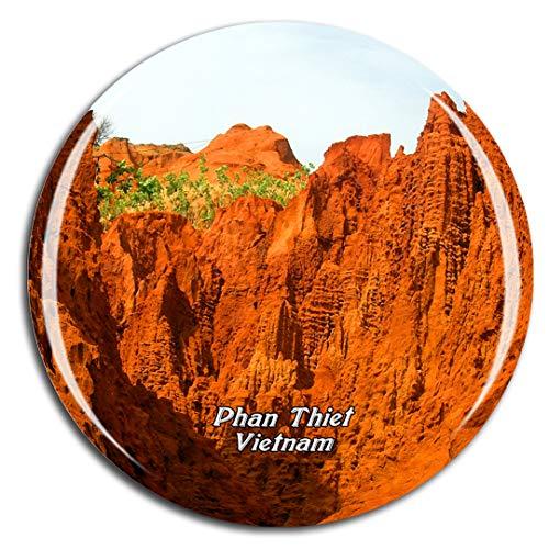 Weekino Duna di Sabbia Rossa del Vietnam MUI Ne Phan Thiet Calamità da frigo 3D Cristallo Bicchiere Tourist City Viaggio Souvenir Collezione Regalo Forte Frigorifero Sticker