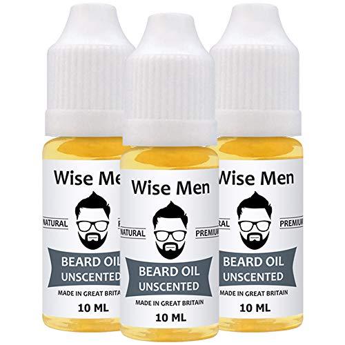 Beard Oil for Men Beard Growth Oil 10ml | Conditioning | Moisturise | Natural | UK Made (Unscented)