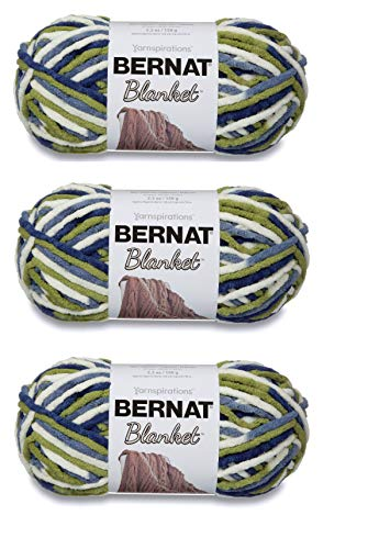 Bulk Buy: Bernat Blanket Yarn (3-Pack) Oceanside 161200-103