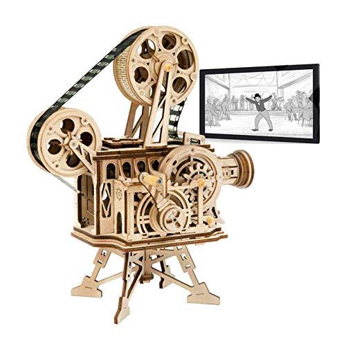 Robotime Kit de Vitascope mecánico - Rompecabezas de Madera de Corte por láser de Modelos de construcción - Juegos de Madera para niños y Adolescentes