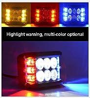 サーチライト電球 4インチライトバーワークライトサイドシューターLEDライトポッドLEDポッドワークライトバーホワイト&アンバーストロボランプコンボWhite&ATV SUVトラック サーチライト電球ジャブスコ5 (Color : 3 color)