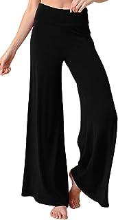 FASHION BOOMY Women's Casual Cotton Spandex Fold Over Waist Yoga Leggings