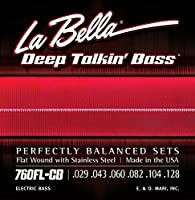 LA BELLA (ラベラ) 6弦ベース弦 760FL-CB Deep Talkin' Bass Flats Light 6-String